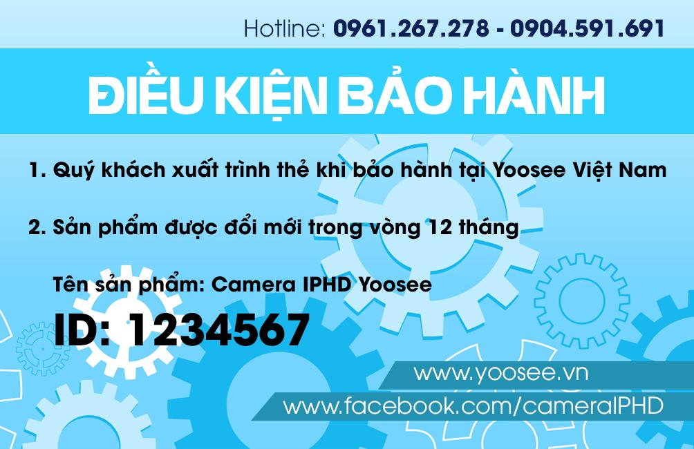 Cách cài đặt chung trên phần mềm xem camera YOOSEE IPC-09